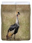African Grey Crowned Crane Duvet Cover