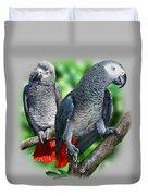 African Grey Parrots A Duvet Cover