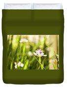 African Iris Bokeh Duvet Cover