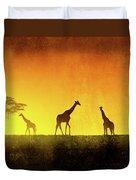 African Landscape Duvet Cover