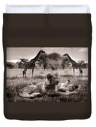 African Life Duvet Cover