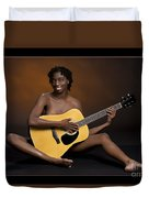 African Nude And Guitar 1184.02 Duvet Cover