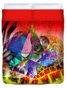 African Story In Three Time Travels Duvet Cover