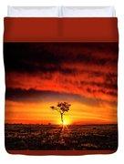 African Sunset Duvet Cover