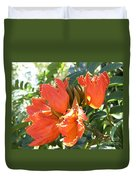 African Tulips Duvet Cover
