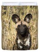 African Wild Dog Okavango Delta Botswana Duvet Cover