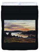 After Sunset At Lake Fleesensee Duvet Cover