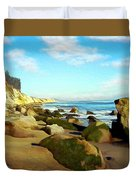 After The Fog Gaviota Duvet Cover