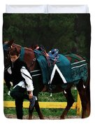 After The Joust Duvet Cover