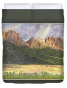 After The Monsoon Organ Mountains Duvet Cover