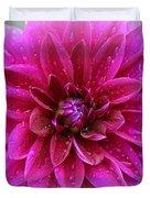 After The Rain - Purple Dahlia Duvet Cover
