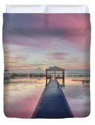 After The Rain Sunrise Painting Duvet Cover