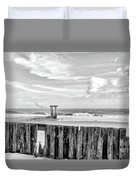 After The Storm Black And White Duvet Cover