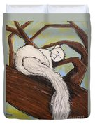 After The White Squirrel Festival Duvet Cover
