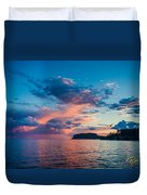 Afterglow On The Lakeshore Duvet Cover