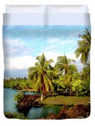 Afternoon At Mauna Lani Hawaii Duvet Cover