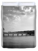 Afternoon At The Pier Duvet Cover