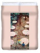 Afternoon Coffee In New York City Duvet Cover