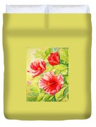 Afternoon Hibiscus Duvet Cover