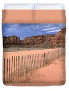 Afternoon In Snow Canyon Duvet Cover