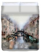 Afternoon In Venice IIi Duvet Cover