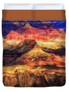 Afternoon Light At Mather Point, Grand Canyon Duvet Cover