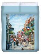 Afternoon On St. Ann Duvet Cover
