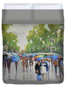 Afternoon Rain Duvet Cover