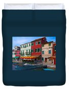 Afternoon Stroll In Murano  Duvet Cover