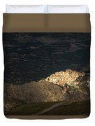 Afternoon Sun Lighting Up Village Of Speloncato In Corsica Duvet Cover