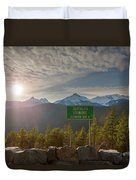 Afternoon Sun Over Tantalus Range From Lookout Duvet Cover