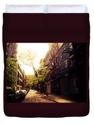 Afternoon Sunlight On A New York City Street Duvet Cover by Vivienne Gucwa