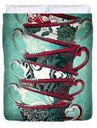 Afternoon Tea Aqua Duvet Cover