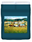 Afternoon Visitors Duvet Cover