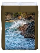 Against The Rocks Duvet Cover