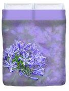 Agapantha Lilac Pastel By Kaye Menner Duvet Cover