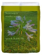 Agapanthus Dawn Duvet Cover