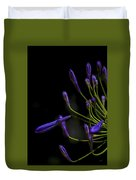 Agapanthus In The Shadows Duvet Cover