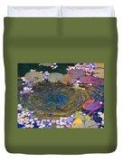 Agape Gardens Autumn Waterfeature Duvet Cover
