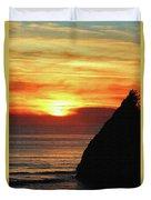 Agate Beach Oregon Duvet Cover