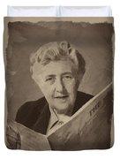 Agatha Christie 3 Duvet Cover