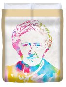 Agatha Christie Watercolor Tribute Duvet Cover