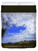 Agave And The Mountains Duvet Cover