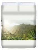 Agave Plants And Rocky Mountains. Santo Antao. Duvet Cover