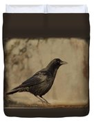 Age Old Crow  Duvet Cover