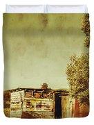 Aged Australia Countryside Scene Duvet Cover