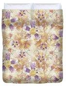 Aged Flower Clown Pattern Duvet Cover