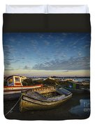 Aging Boats On Trocadero Pipe Puerto Real Cadiz Spain Duvet Cover