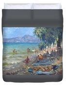 Agrilesa Beach Athens  Duvet Cover