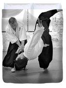 Aikido Wrist Lock  Duvet Cover